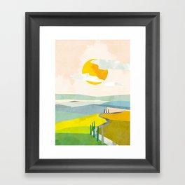Tuscany italy sunshine abstract art Framed Art Print