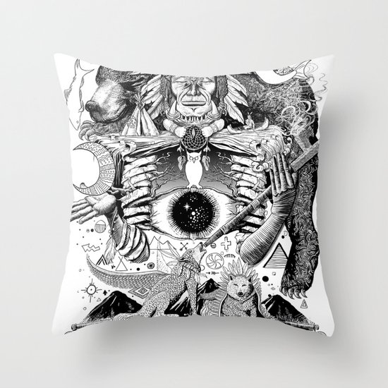 Dream Pipe Throw Pillow