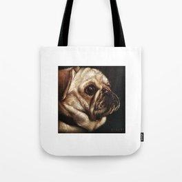 Pug Celebrated in Black Velvet Tote Bag
