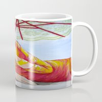 tequila Mugs featuring Tequila Sunrise by Geraldine Warrior