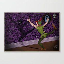 Peter's Haunted Shadow by Topher Adam Canvas Print
