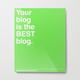 Best Blog Metal Print