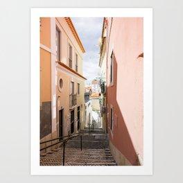 Lost in Alfama (Lisbon, Portugal) Art Print