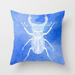 ekoxe full blå vit Throw Pillow