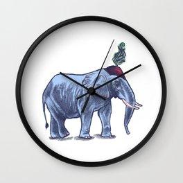Elefante // melancholic circus elephant Wall Clock