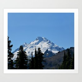 Snow Cap on the Mountain Art Print