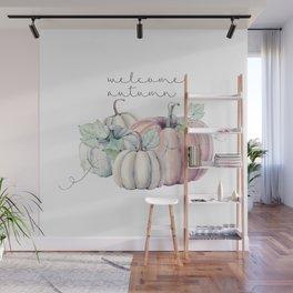 welcome autumn orange pumpkin Wall Mural