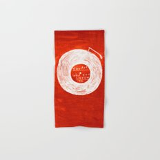 you are what you listen to, RED Hand & Bath Towel