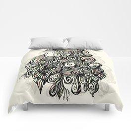 Abstract Garden Comforters