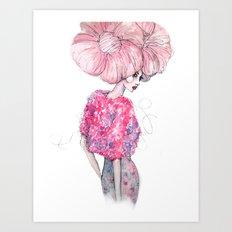 Cotton Candy Hair // Fashion Illustration Art Print