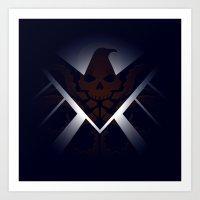 Hidden HYDRA – S.H.I.E.L.D. Logo Sans Wording Art Print