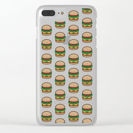 Cheese burger Pattern Clear iPhone Case