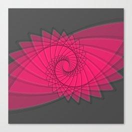 hypnotized - fluid geometrical eye shape Canvas Print