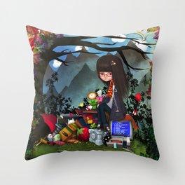 Nrrrd Grrrl Throw Pillow