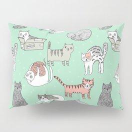 Cat pattern cute nursery cat lady kittens by andrea lauren Pillow Sham