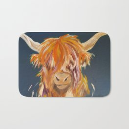 Bonnie Highland Cow Bath Mat