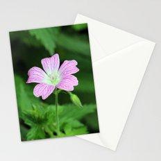 Pink Geranium Dew Stationery Cards