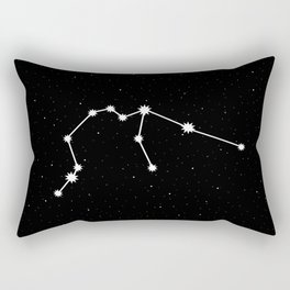 Aquarius Star Sign Night Sky Rectangular Pillow