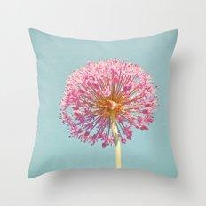 Pink Allium Throw Pillow