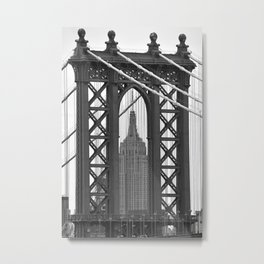 Empire State Building Photography Black & White Empire State Building Contest finalist Metal Print