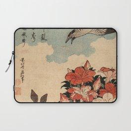 Hokusai Cuckoo and azaleas -hokusai,manga,japan,Katsushika,cuckoo,azaleas,Rhododendron Laptop Sleeve