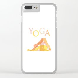 Yoga poses- people doing yoga silhouette- yoga lover Clear iPhone Case