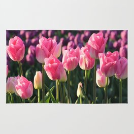 Pink and Purple Tulips Rug
