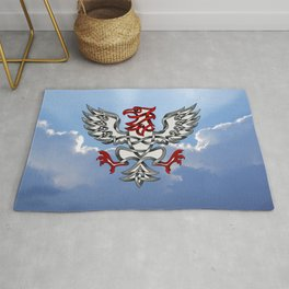 Heraldic Eagle Knot Rug