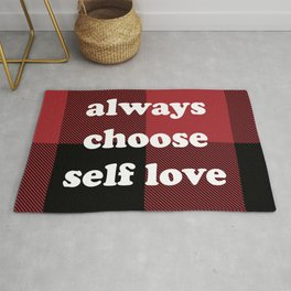 Always Choose Self Love Buffalo Plaid by @risottoart, check out my shop! Rug