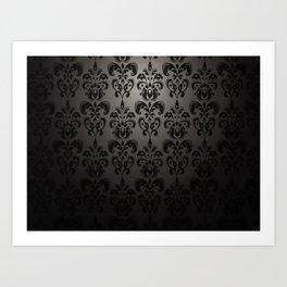 Sophisticated Black Pattern Art Print