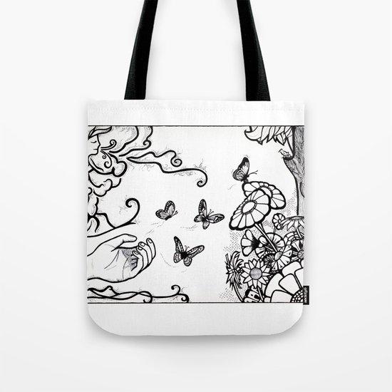 Releasing Butterflies Tote Bag
