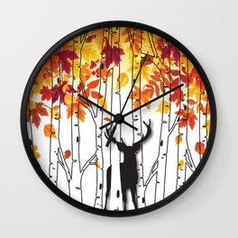 Lonely Deer No. 1 Wall Clock