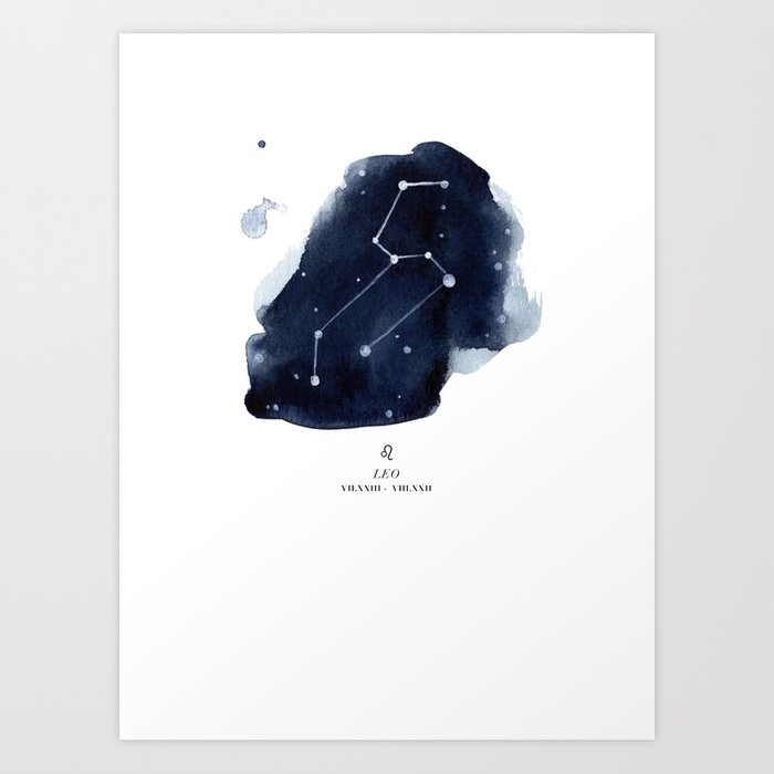 Zodiac Star Constellation - Leo Kunstdrucke
