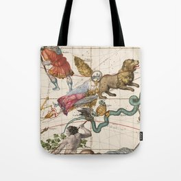 Vintage Constellation Map - Star Atlas - Leo - Virgo Tote Bag