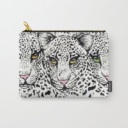 THREE SNOW LEOPARDS Carry-All Pouch