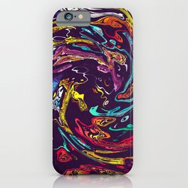 Abstract Marble Painting iPhone Case
