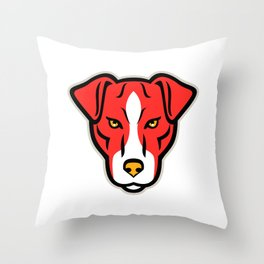 Plummer Terrier Dog Front Mascot Throw Pillow
