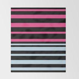 Striped blue-pink Throw Blanket