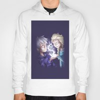 jack frost Hoodies featuring Frost Buddies by TheCakeIsSisley