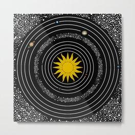 Solar System Sun & Planets Metal Print