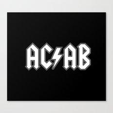 ACAB # BLACK & WHITE Canvas Print
