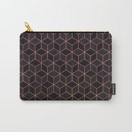 Ombré Rose Gold Cubes Carry-All Pouch