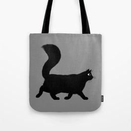 Walking Black Cat Tote Bag