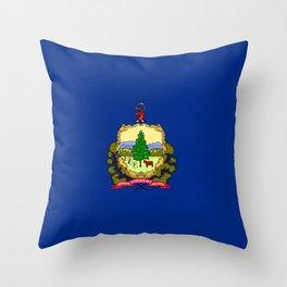 flag vermont,america,usa,Green Mountain,Vermonter, New England,Burlington,Montpelier,Rutland,Barre Throw Pillow