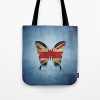 union jack Tote Bags featuring union & jack by Steffi Louis