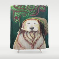 marley Shower Curtains featuring The Marley Series: Bobmarley by Katie Duker