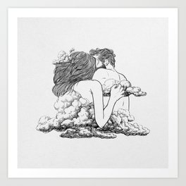Above the clouds. Art Print