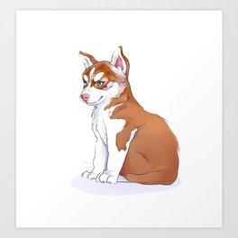 Husky Pup Art Print