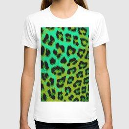 Aqua and Apple Green Leopard Spots T-shirt