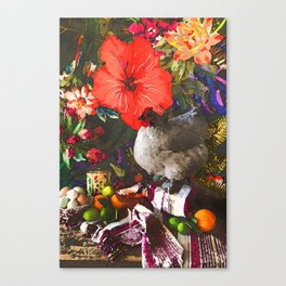 Still Life with Fat Chicken (Watercolor) Canvas Print